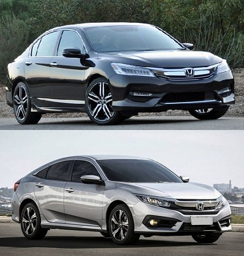 2017 honda accord vs honda civic compared best cars for Honda accord vs honda civic