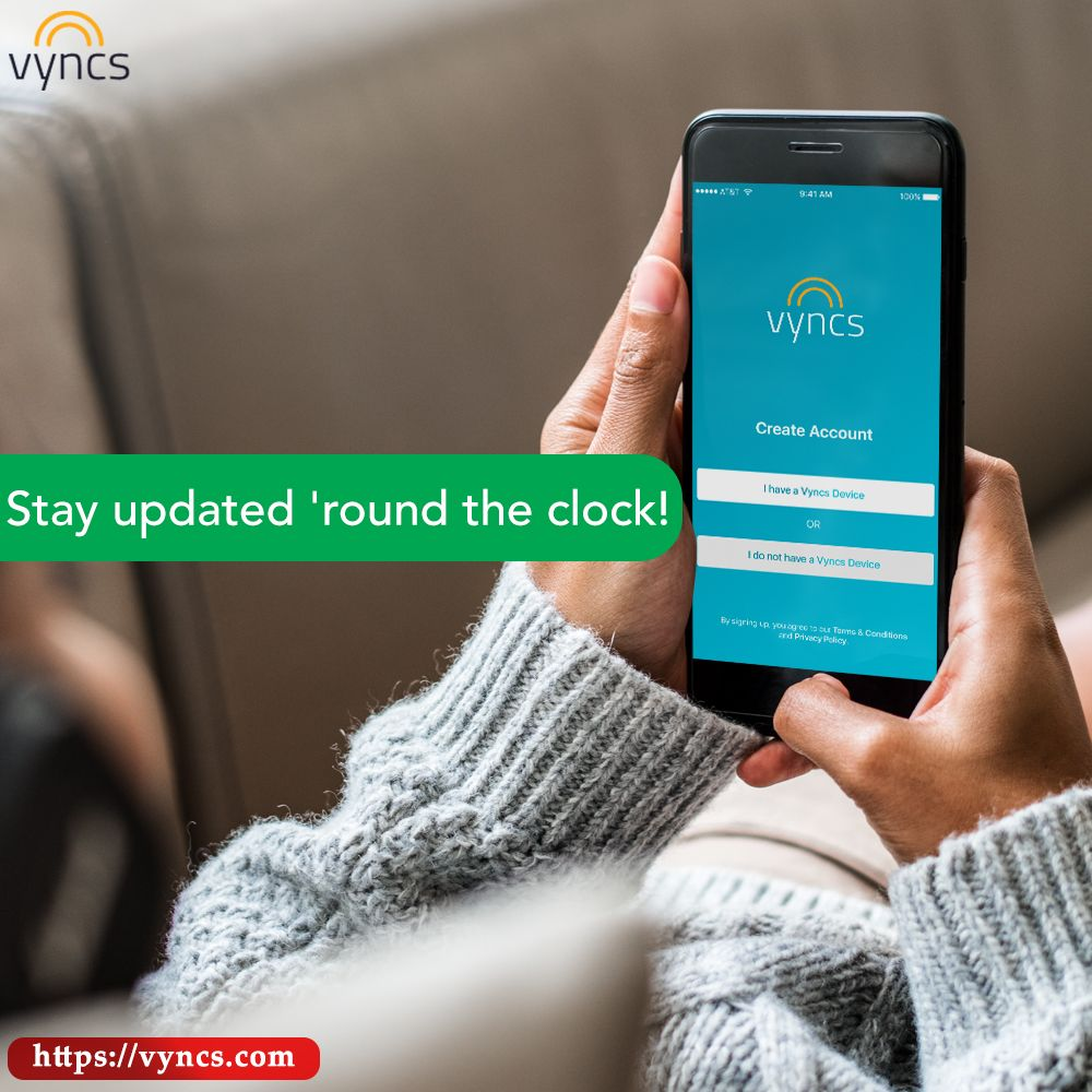 Vyncs groups gives you realtime updates anytime