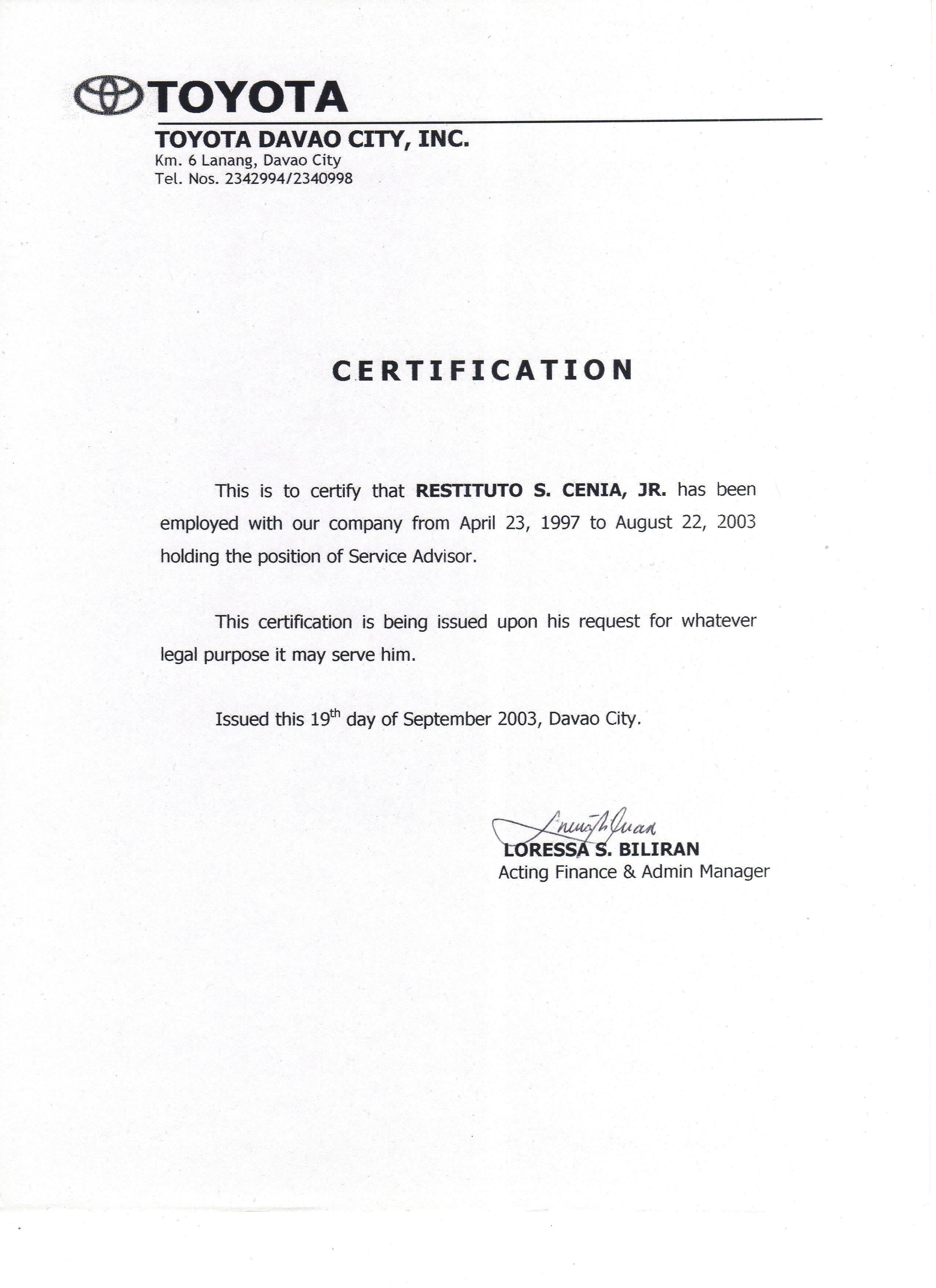 Employment Verification Letter Template Word Employment