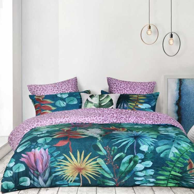 Koo Greenhouse Quilt Cover Set Multicoloured Queen Quilt Cover Sets Quilt Cover Single Size Bed