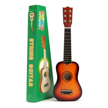 Grtsunsea 21'' Kids Toys Basswood Acoustic Guitar 6 String Practice Music Instruments Children Gifts 【5 Color】 - Walmart.com #musicalinstruments