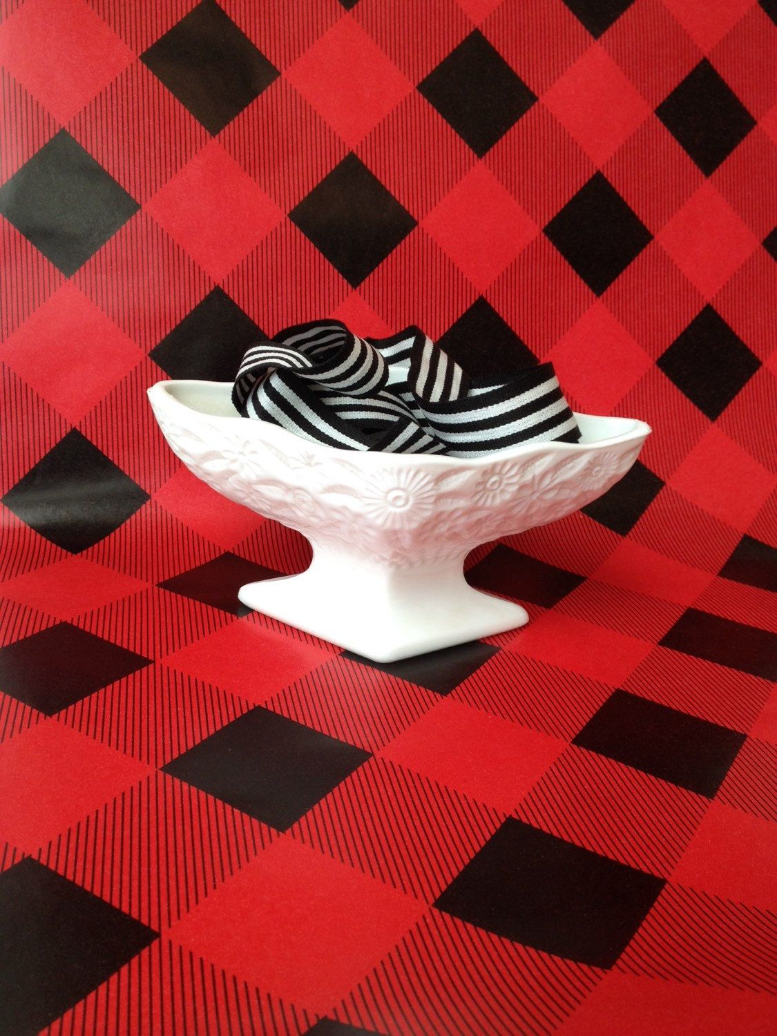 White Footed Bowl Candy Dish by SissyBoomsPartyRoom on Etsy