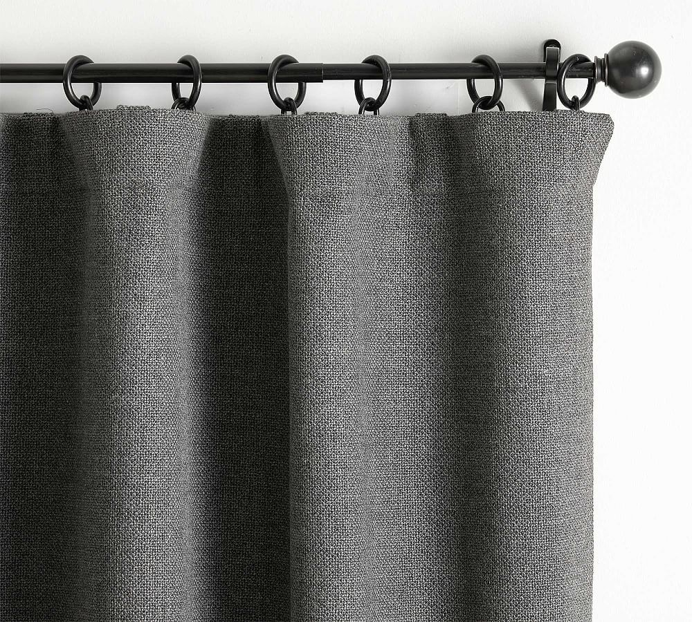 Chateau Basketweave Curtain 50 X 108 Charcoal Gray Windows Curtains Pottery Barn Blackout Curtains Basket Weaving Curtains