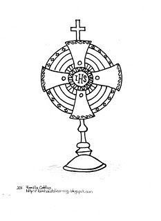 catholic monstrance clipart  Google Search  Line drawings for