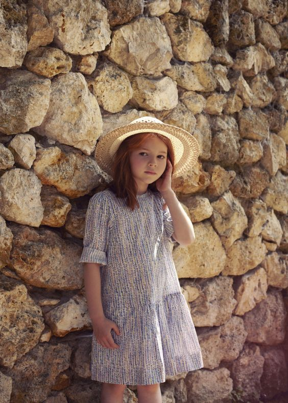 Love this girls summer dress, contemporary still with a romantic feel to  it. By Poppy Rose d6b98c407e41