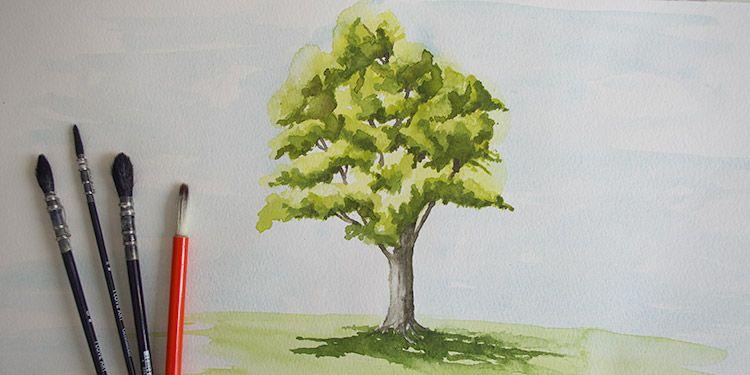 vid o pour peindre un arbre tape par tape http dessin. Black Bedroom Furniture Sets. Home Design Ideas