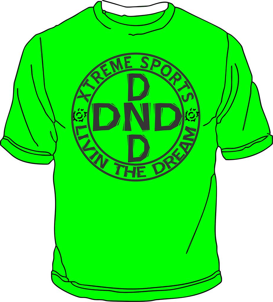 Shirt design green - Dnd Guys Circle Design T Shirt Neon Green