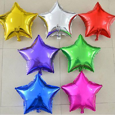18 star shape foil balloon 1piece birthday wedding anniversary 18 star shape foil balloon 1piece birthday wedding anniversary party supplies ebay au113 junglespirit Image collections