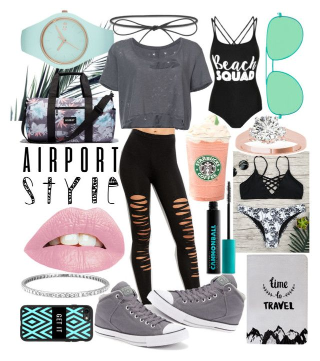 """""""✈✈✈"""" by whodatgirl ❤ liked on Polyvore featuring Ice-Watch, Elizabeth and James, Unravel, Converse, George, Vooray, Yves Saint Laurent, Urban Decay, Tiffany & Co. and Casetify"""