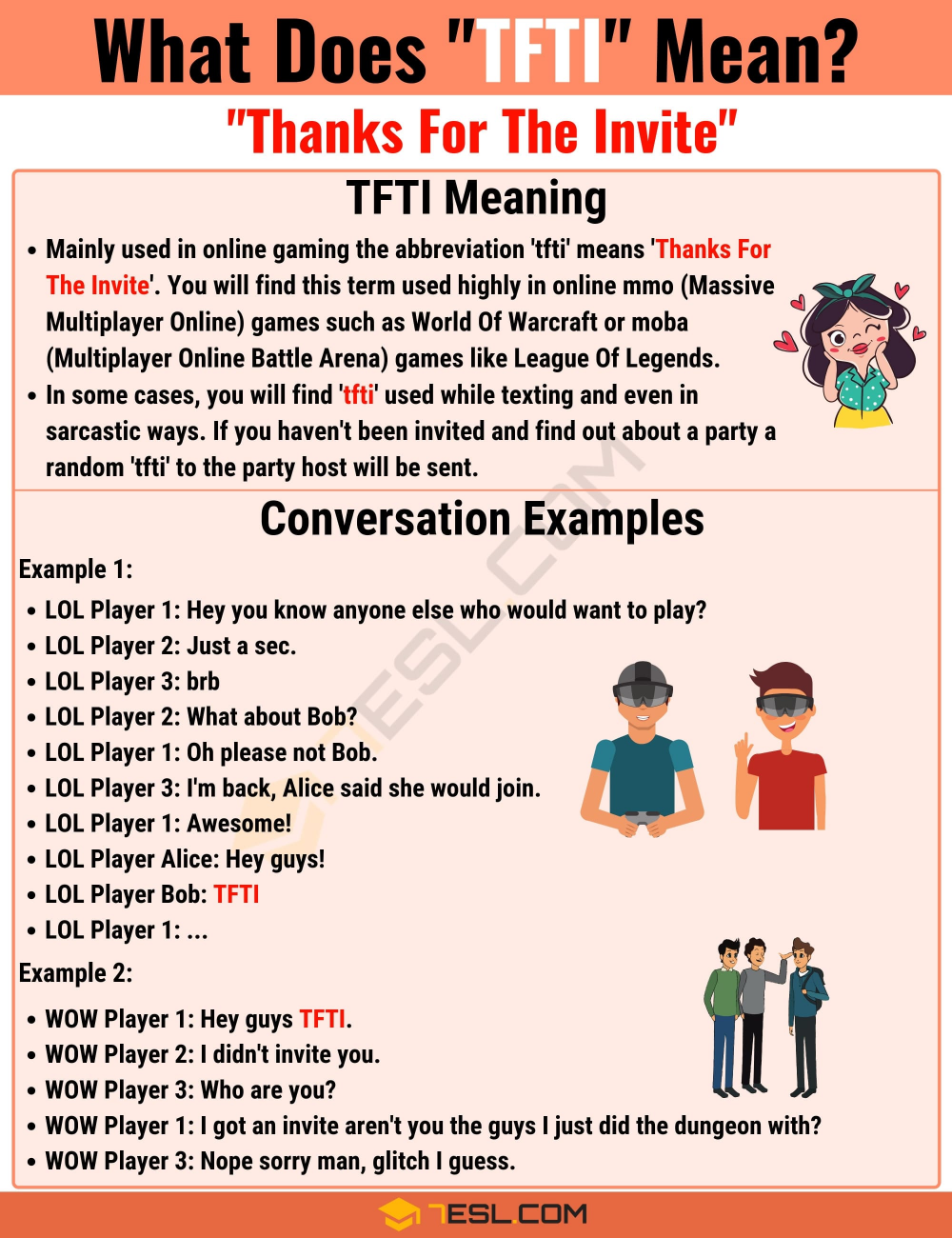 Tfti Meaning What Does Tfti Mean And Stand For 7 E S L English Lessons Meant To Be Slang Words