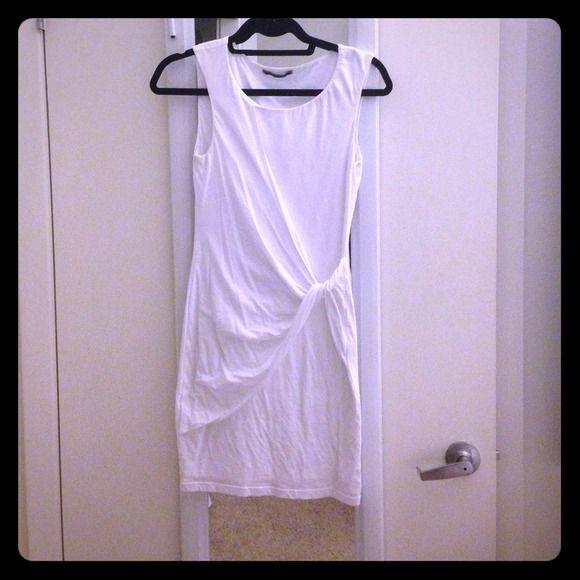 "Selling this ""White twist/ruched form fitting Velvet dress"" in my Poshmark closet! My username is: pedran. #shopmycloset #poshmark #fashion #shopping #style #forsale #Velvet #Dresses"
