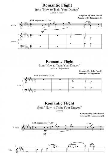 How to train your dragon romantic flight violin piano john how to train your dragon romantic flight violin piano john powell piano plateau sheet music ccuart Gallery