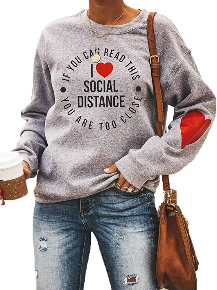 I Love Social Distancing Sweatshirt I Love Social