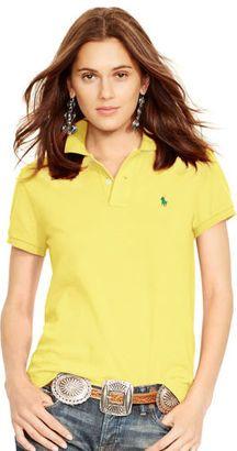 fcf9d5e29c7 Polo Ralph Lauren Classic-Fit Polo Shirt - Shop for women's Shirt - extreme  yellow Shirt