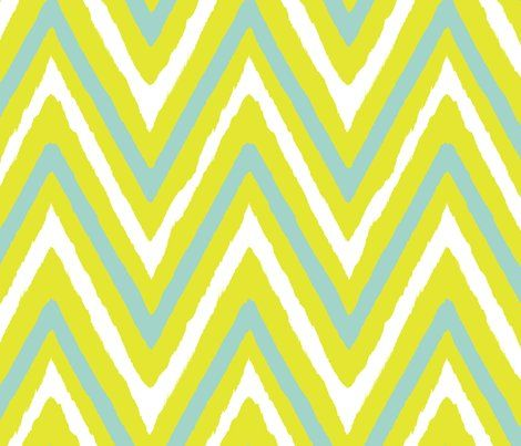 lime+seafoam chevron fabric by fable_design for sale on Spoonflower - custom fabric, wallpaper and wall decals