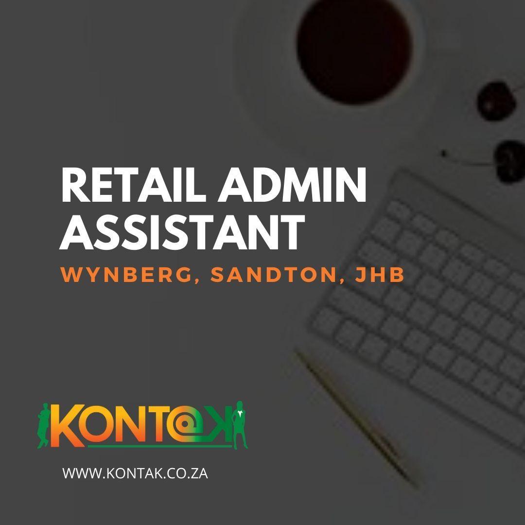 Admin Assistant (Retail) JB161 in 2020 Admin assistant