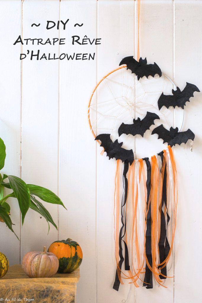 DIY - Un attrape rêve d'Halloween - Au Fil du Thym