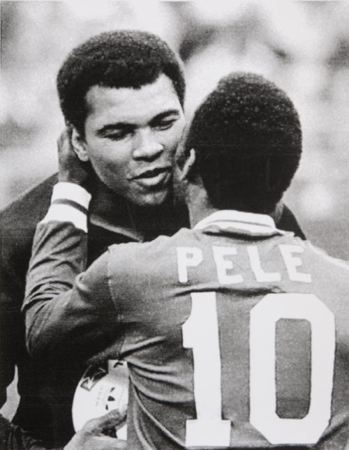 Mohamed Ali and Pele T shirt, world's most beautiful