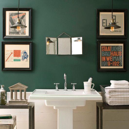 Colorlife Green Bath Tarrytowngreen Green Bathroom Dark Green Bathrooms Bathrooms Remodel