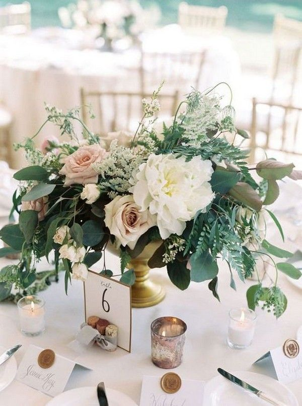 15 Simple But Elegant Wedding Centerpieces For 2019 Trends Emmalovesweddings Flower Centerpieces Wedding Elegant Wedding Centerpiece Rose Centerpieces Wedding