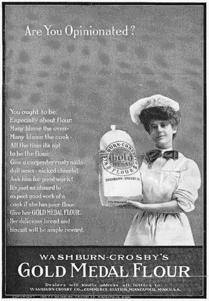 Gold Medal Flour ad, 1907 From the October 1907 issue of Good ...