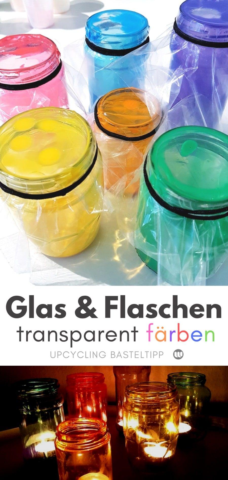 Photo of Glas & Flaschen färben mit Lebensmittelfarbe: So geht´s