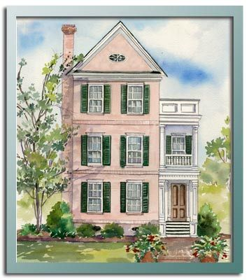 Chrl3556 exterior i love these very tall homes on very for Very narrow lot house plans
