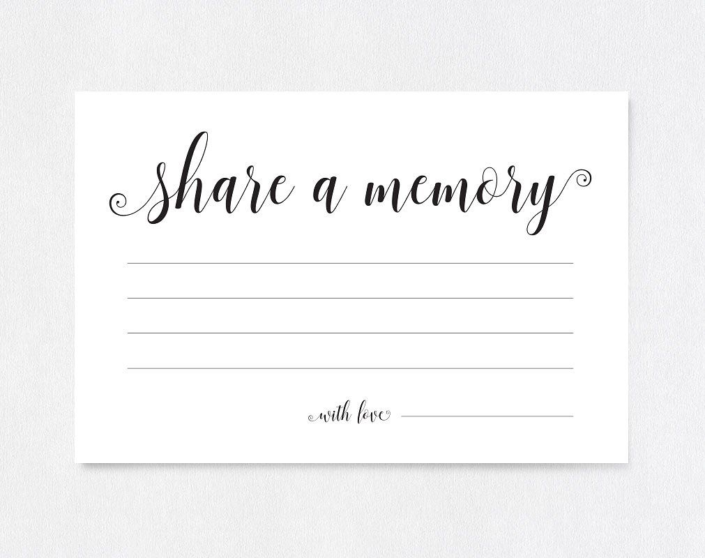 Share A Memory Card Shr36 Memorial Cards For Funeral Card Template Memorial Cards