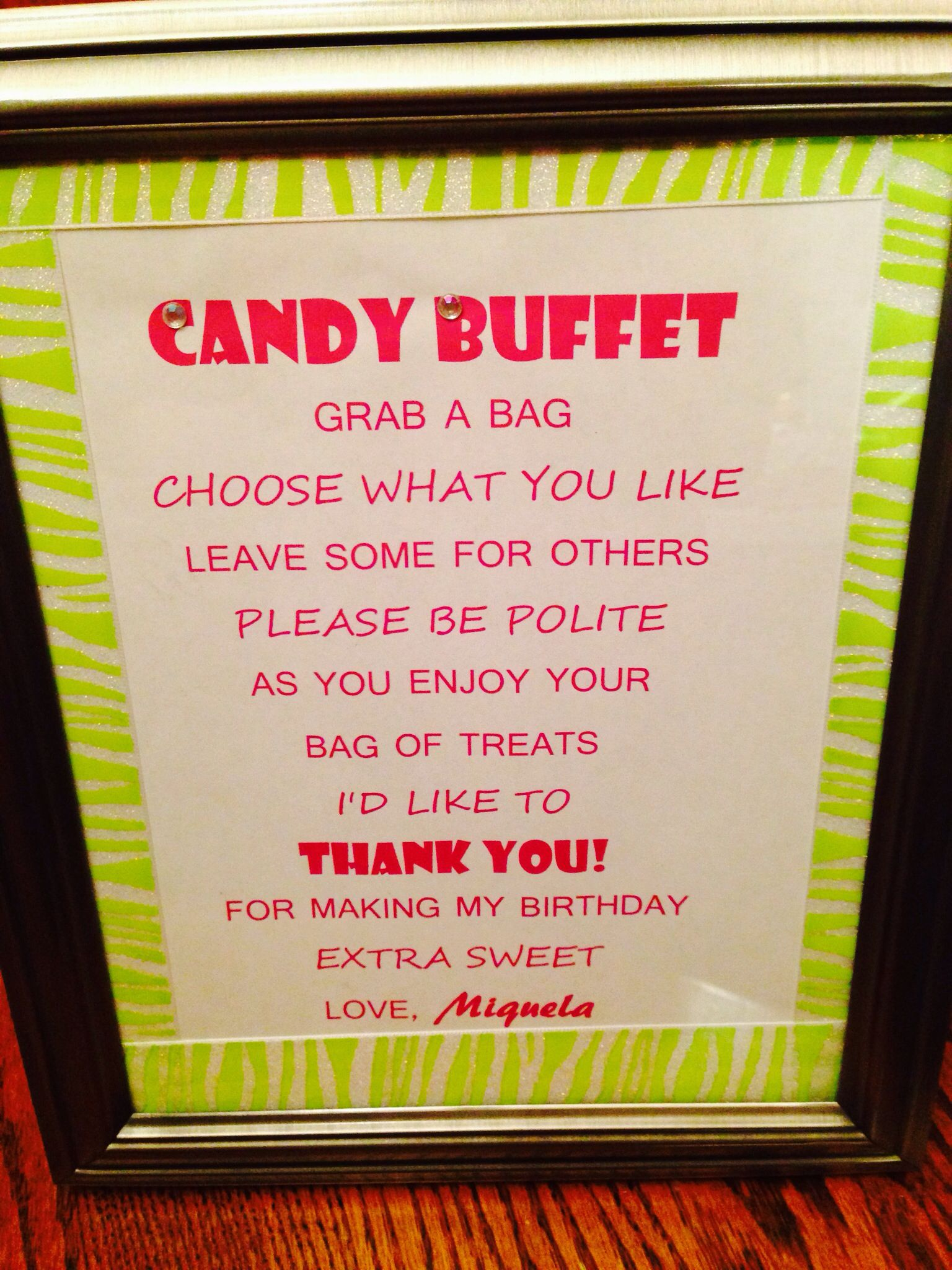 Candy Buffet | Sweet 16 Ideas | Pinterest | Buffet, Sweet 16 and ...