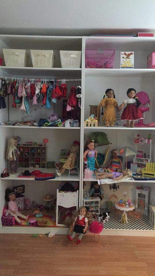 ikea pax storage for american girl | the organized home - kid's