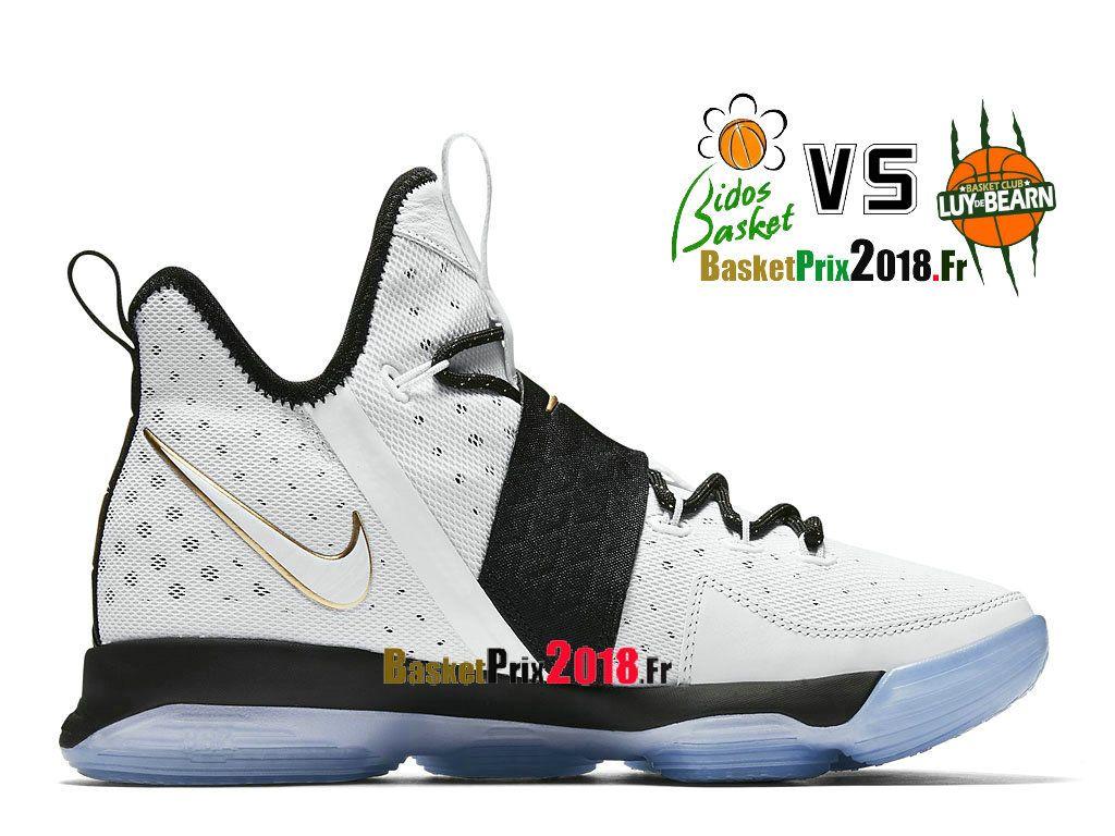 Chaussures Basket Prix Pas Cher Homme Nike Lebron 14 Bhm Noir Blanc