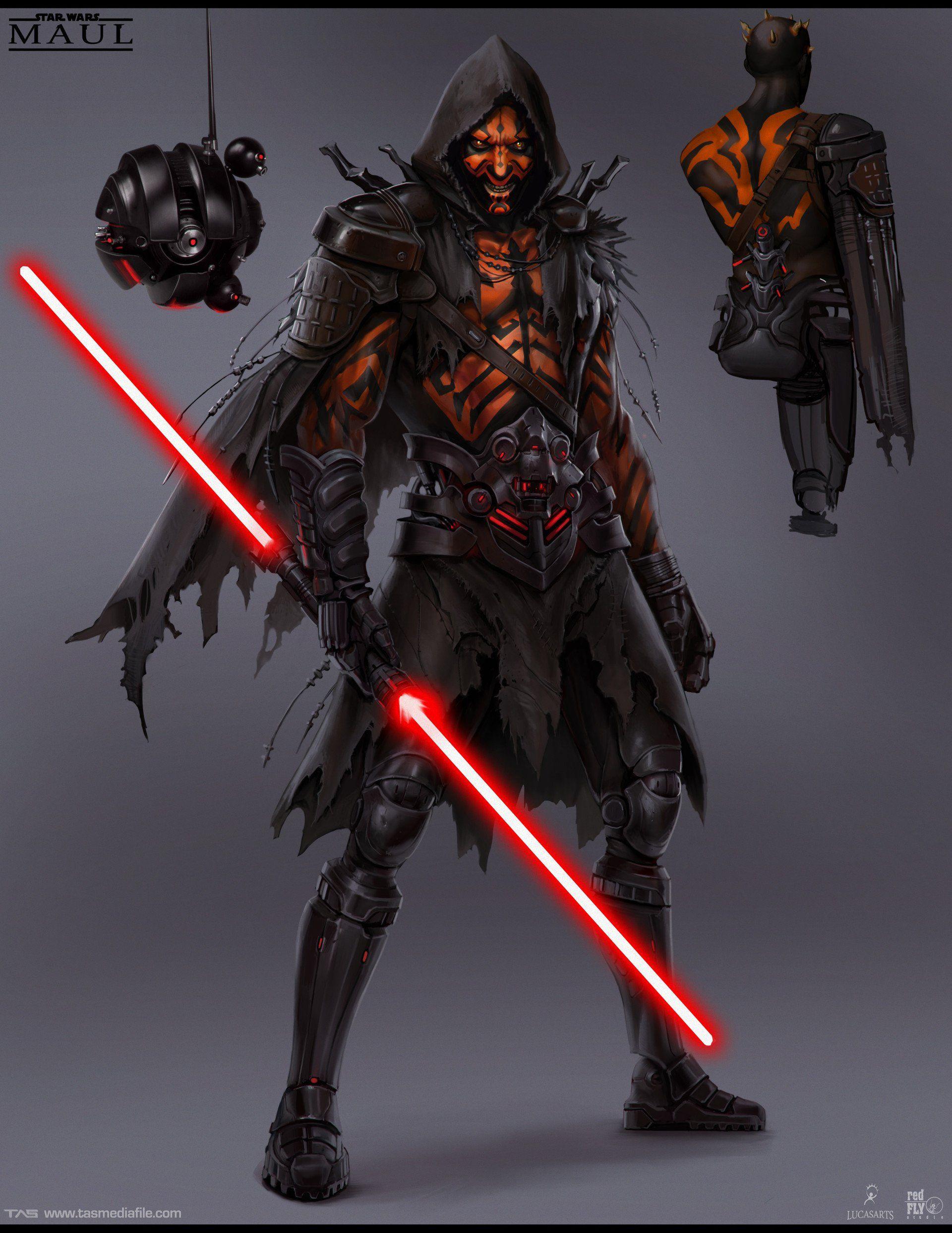 canceled darth maul game art reveals new star wars characters dark