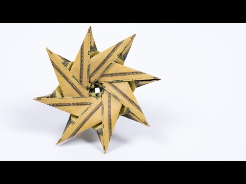Photo of Money origami STAR ⭐️ Making an origami Christmas star with Dollars