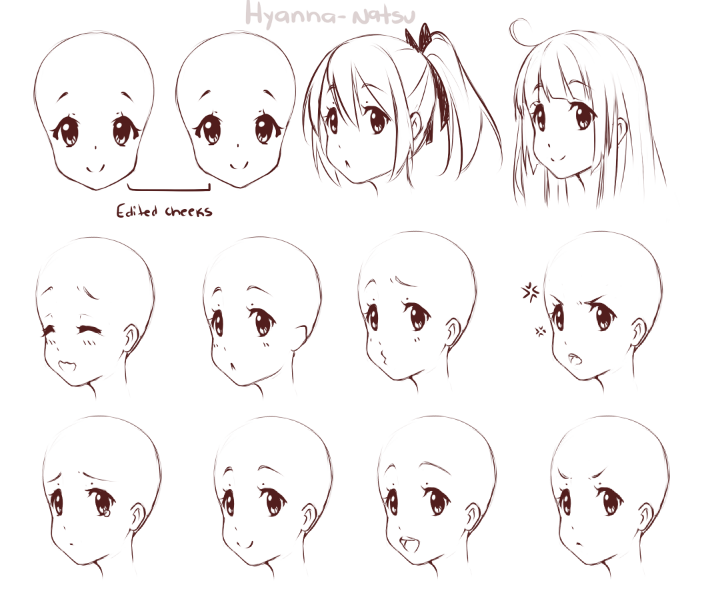 Pin By Sarah Anwary On Chibi Face Expressions Digital Artist