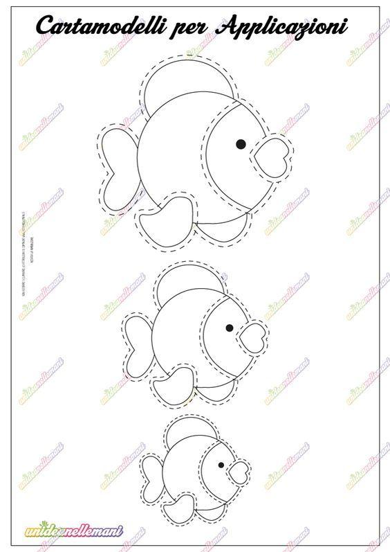 Cartamodello pesciolino da stampare disegni modelli for Pesciolino da colorare