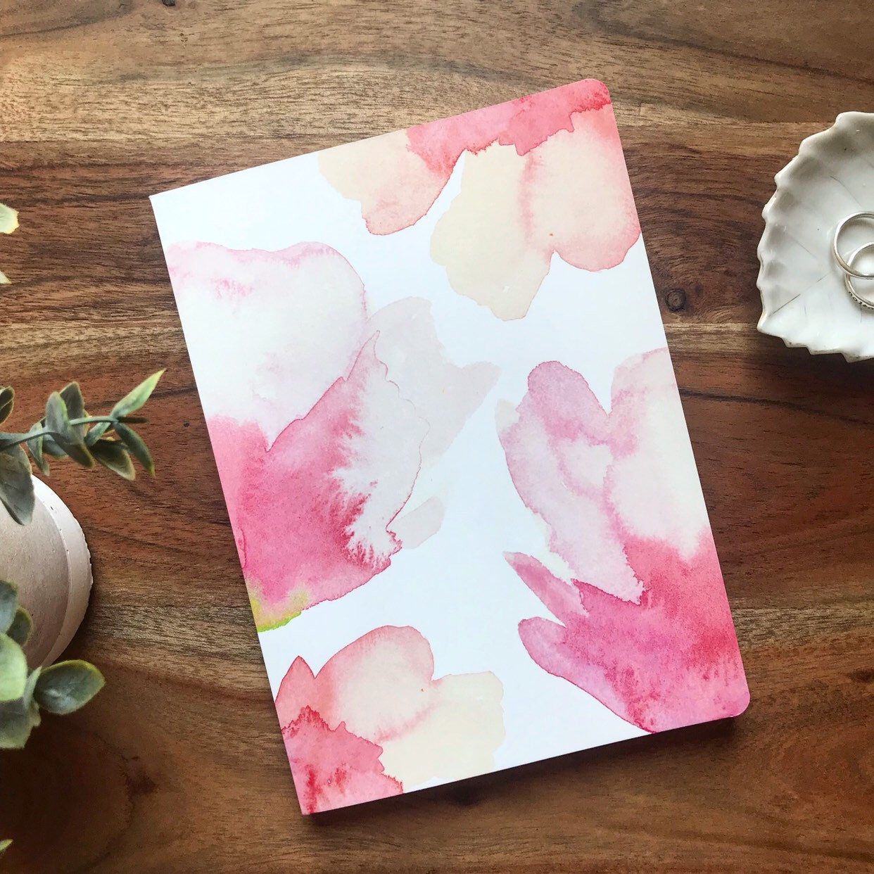 Soft Covered Journal Pink Watercolor Floral Notebook In 2019