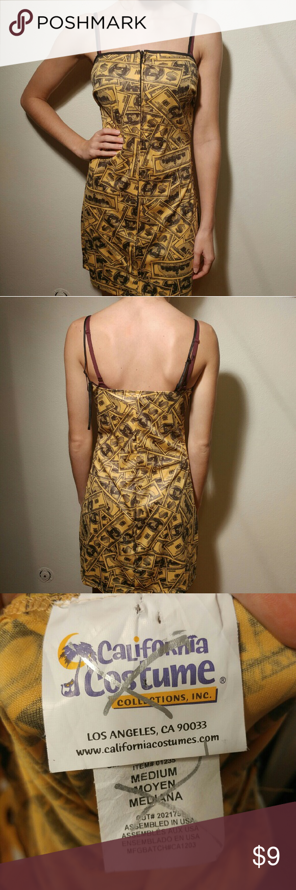 322f4a44573 100 dollar bill costume dress size medium Money costume dress ...