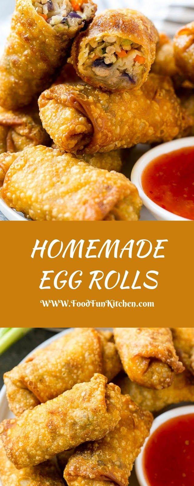 HOMEMADE EGG ROLLS #eggrolls