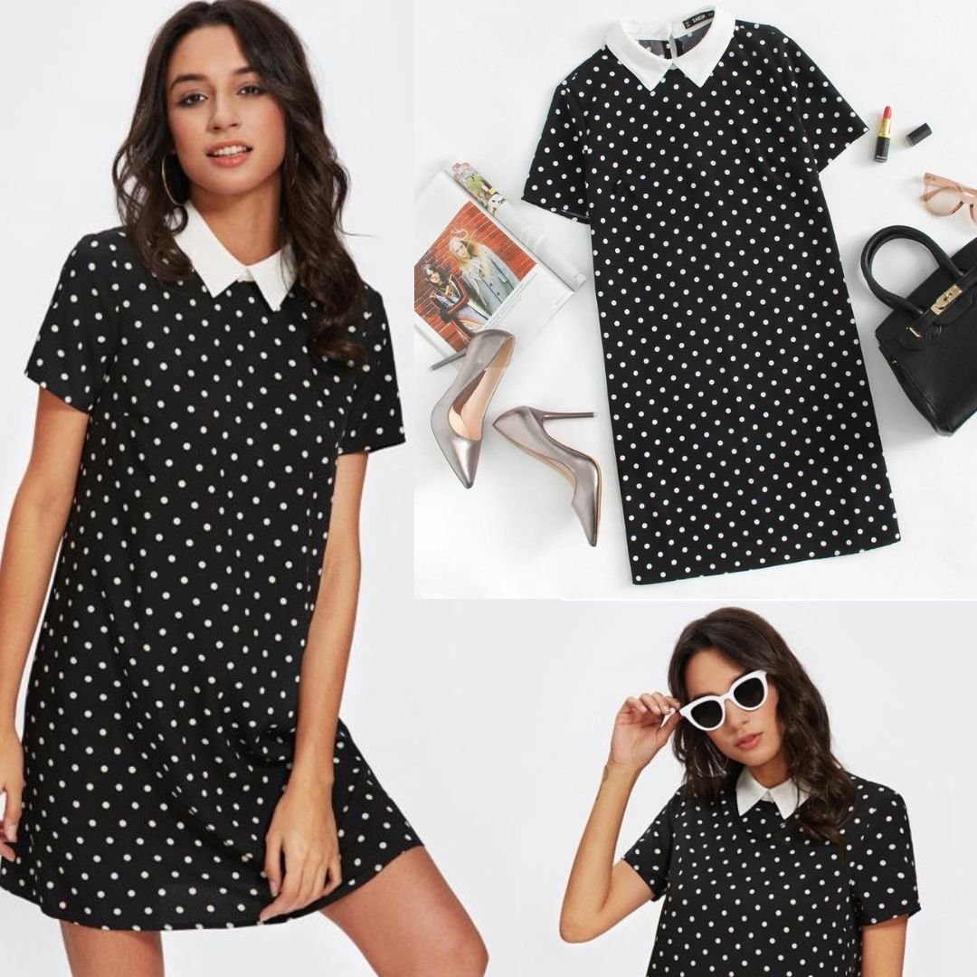 423e83c0def Emma Polka Dot Black Dress in 2019 | Fashion Tips and Trends ...