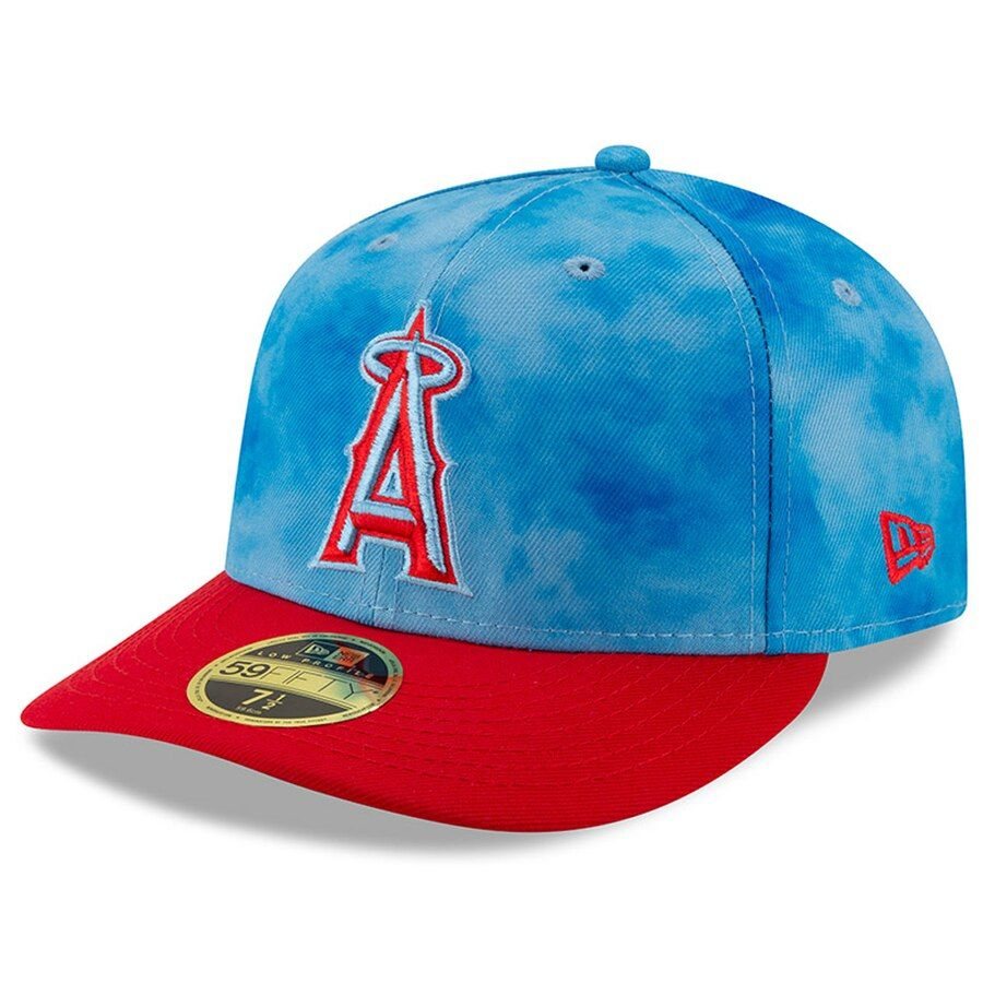best service 7ef14 41ca4 Men s Los Angeles Angels New Era Blue Red 2019 Father s Day On-Field Low