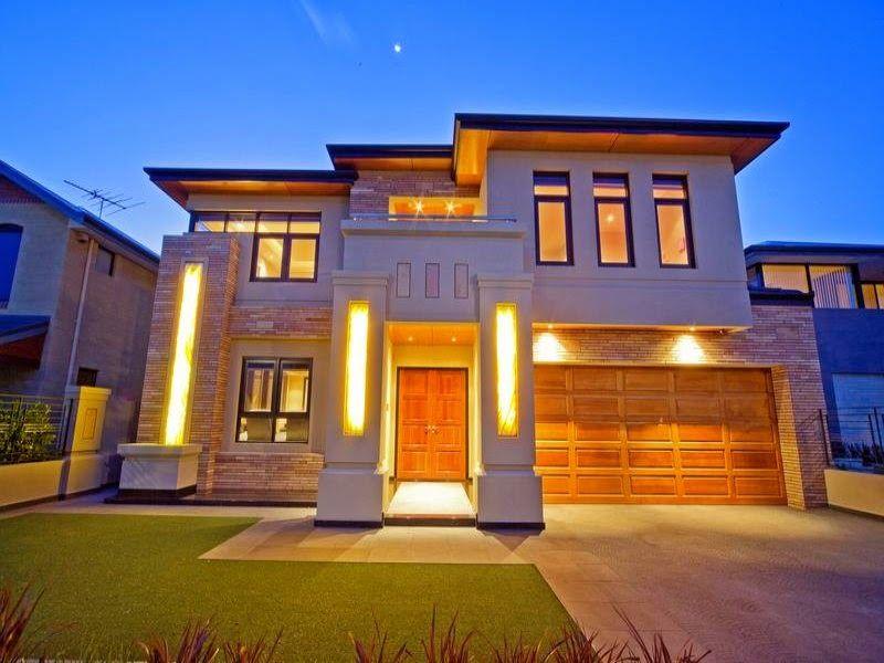 Fachadas de casas bonitas de dos pisos dos plantas for Iluminacion exterior fachadas