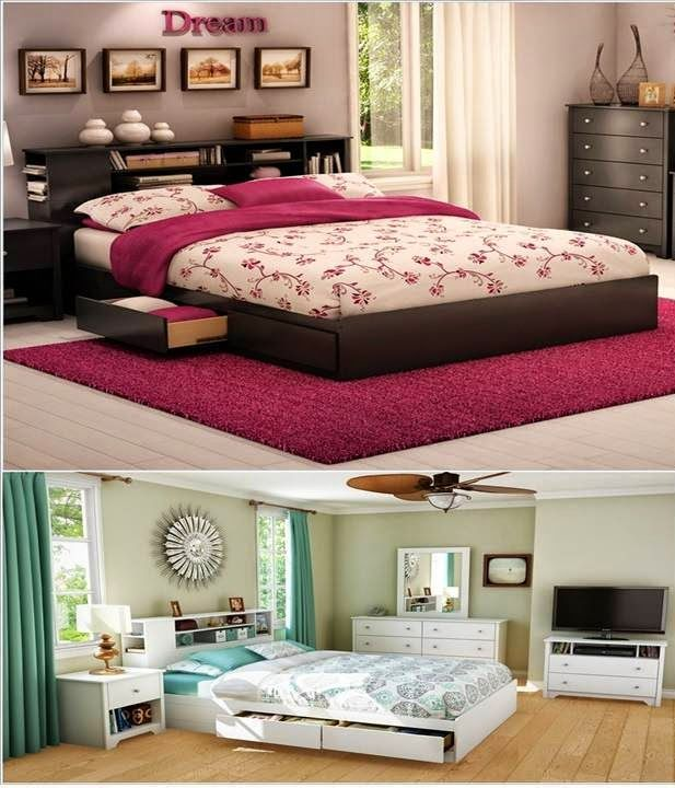 Home Storage Ideas For Small Spaces: HOME DECOR: Clever Storage Ideas To Use Bedroom Furniture