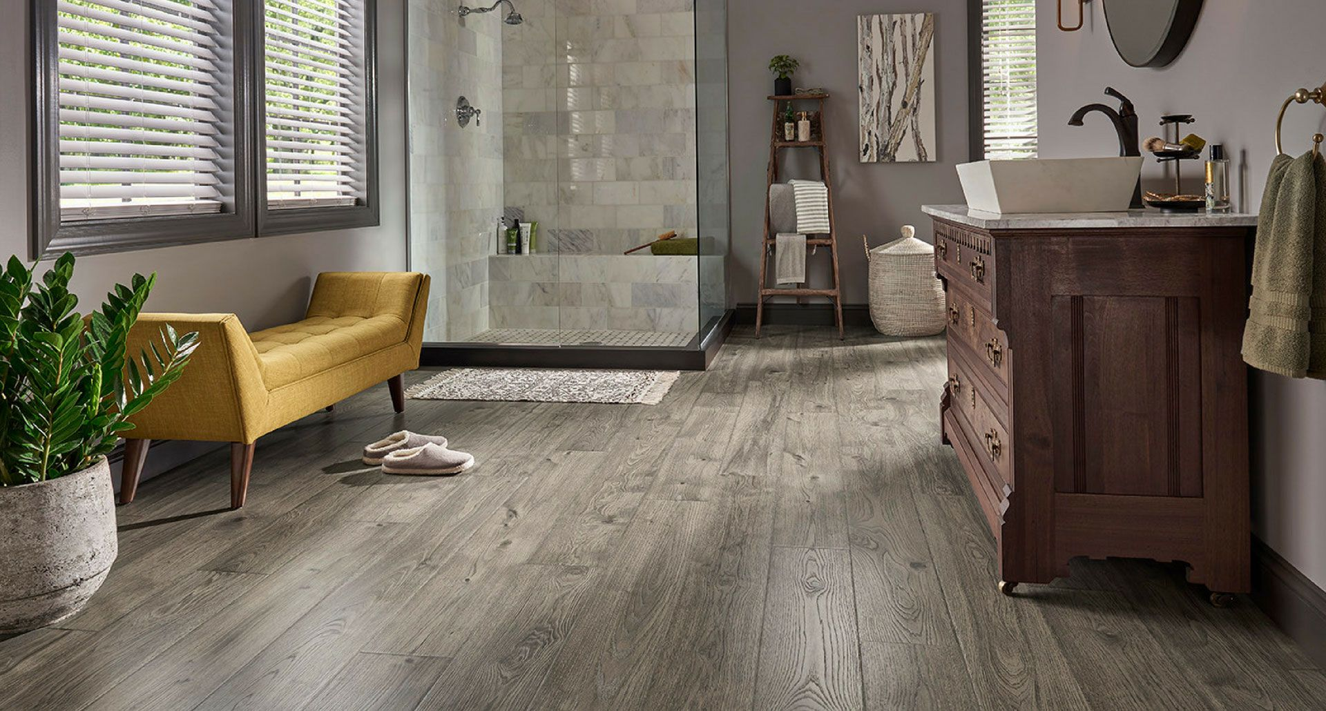 Anchor Grey Oak Laminate Floor Natural Wood Look 12mm