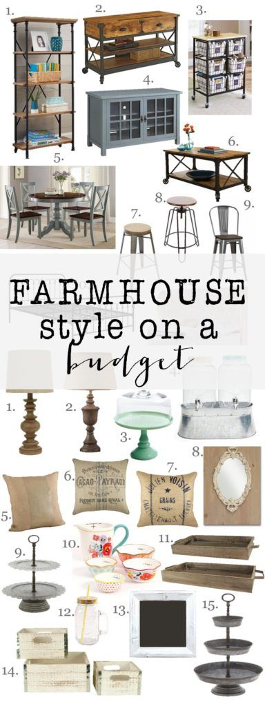 Looking for farmhouse style furniture and home decor, but don't want to break the bank. Check out these great items to give you Farmhouse Style on a Budget -   23 farmhouse style office ideas