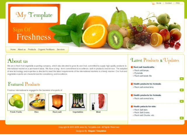 HTML - FreshView - An Exclusive Free Web Template | Free Website ...