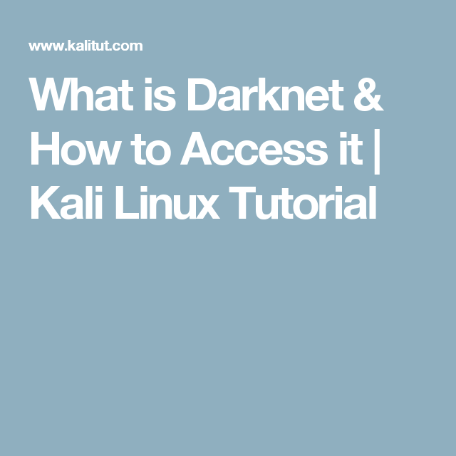 What is Darknet & How to Access it | Kali Linux Tutorial
