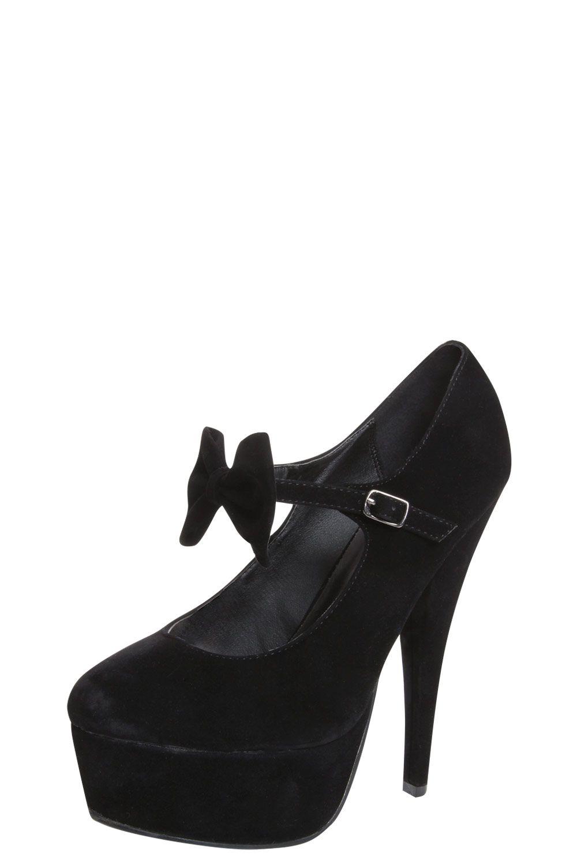 f8008ee0bf6 Amarah Black Platform Bow Front Heels