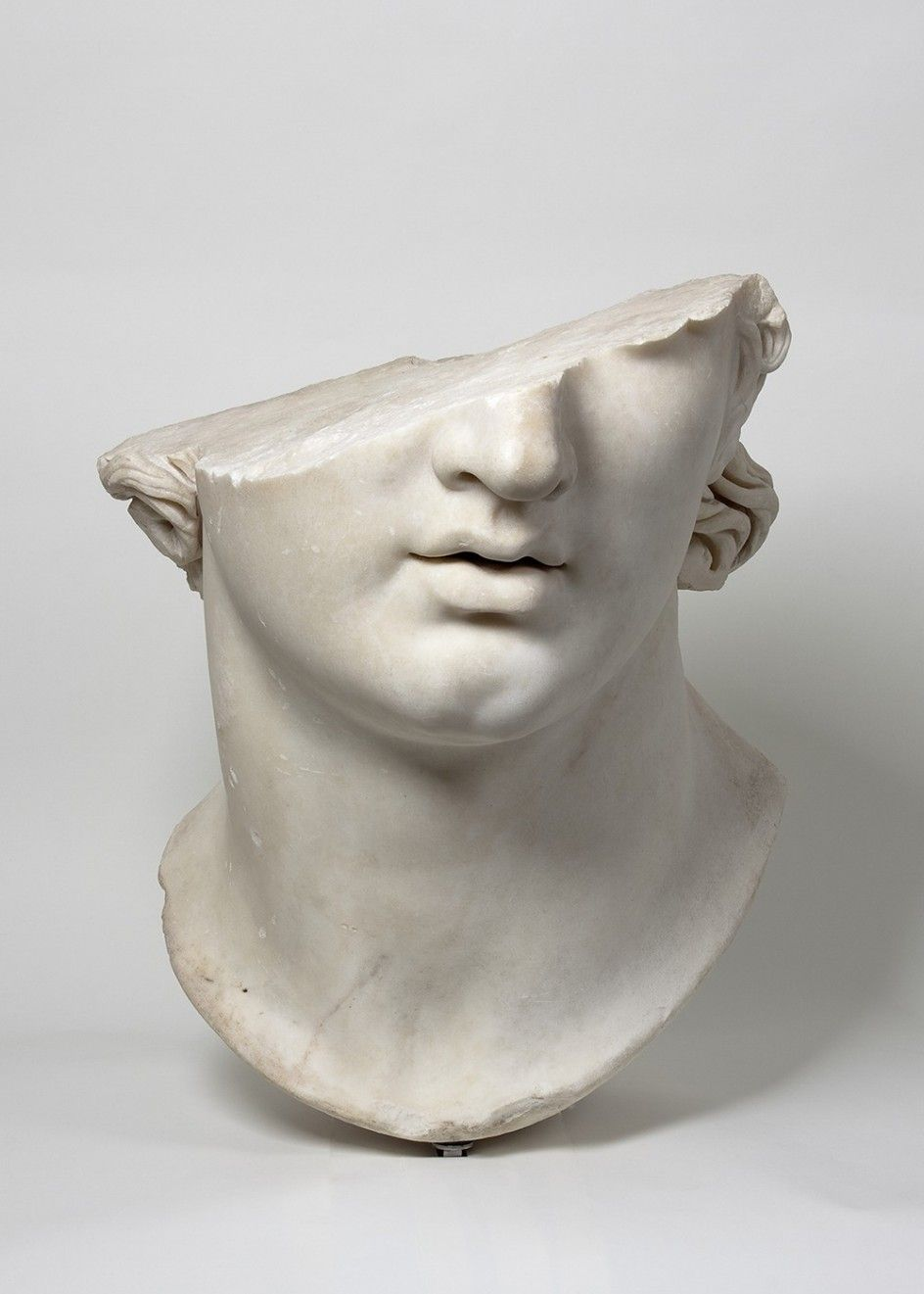 Fragmentary+Colossal+Head+of+a+Youth+-+Greek,+Hellenistic+period,+2nd+century+B.C.