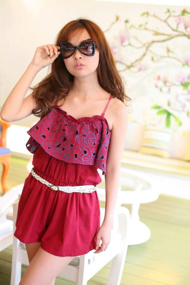 Classy Dark Red Hot J-suit (Note : It does not come with belt) $25.71 on @ClozetteCo