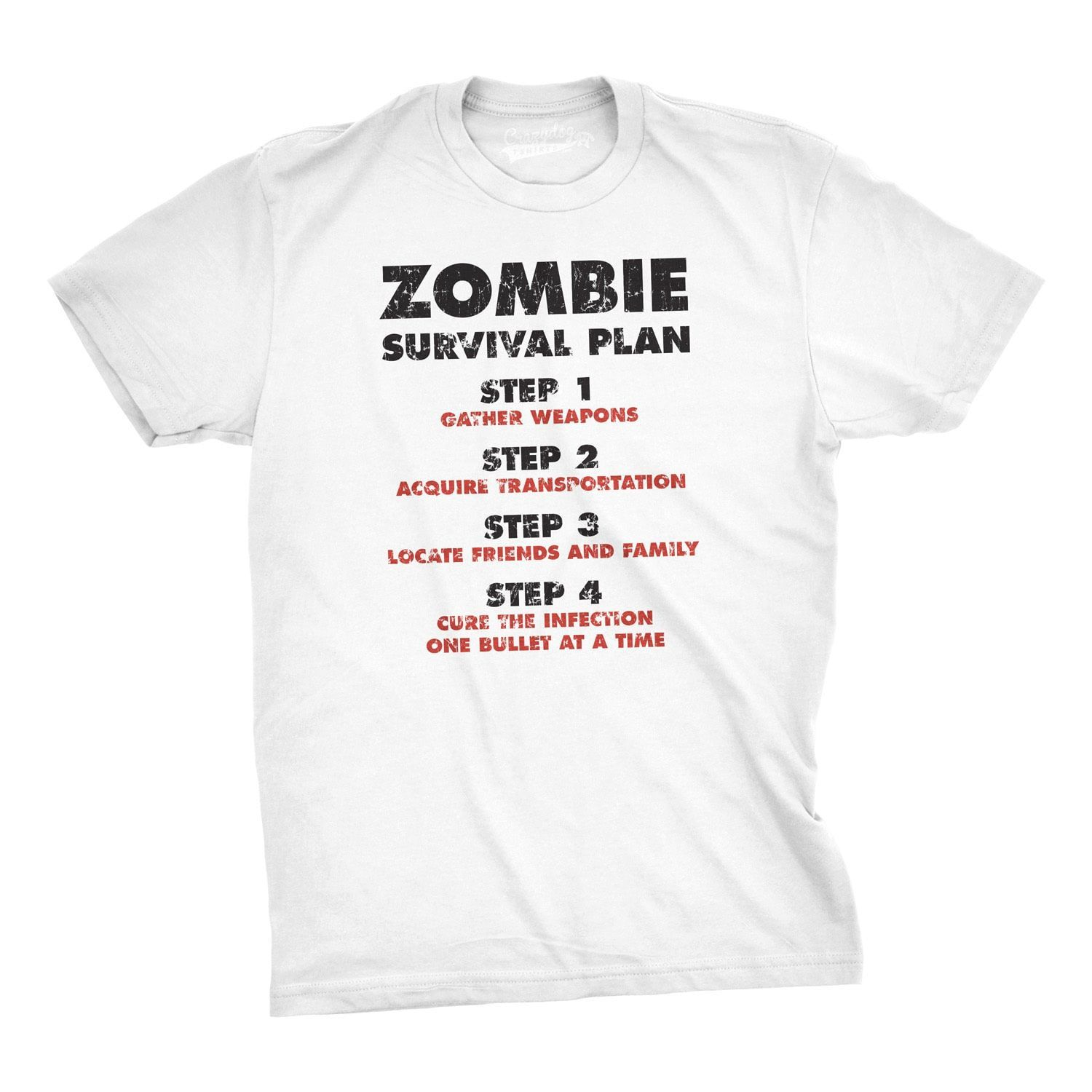 Zombie Survival Plan T-Shirt Funny Zombie Attack Shirts | Products ...